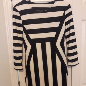 NWOT Strip Midi Dress